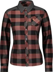 Shirt W's Trail Flow Check Long Sleeve